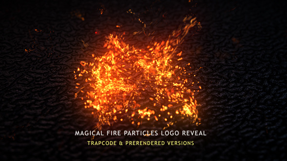 Magical Fire Particles Logo Reveal