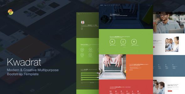 Kwadrat - Creative Multipurpose Bootstrap Template
