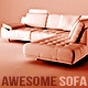 L-Shaped Modern Sofa - 3DOcean Item for Sale