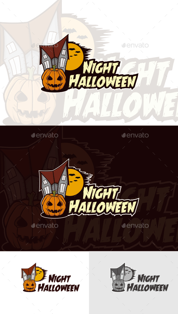 Night Halloween Logo Template - Humans Logo Templates