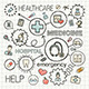 Medical Sketch Concept with Hand Draw Doodle Icons - GraphicRiver Item for Sale