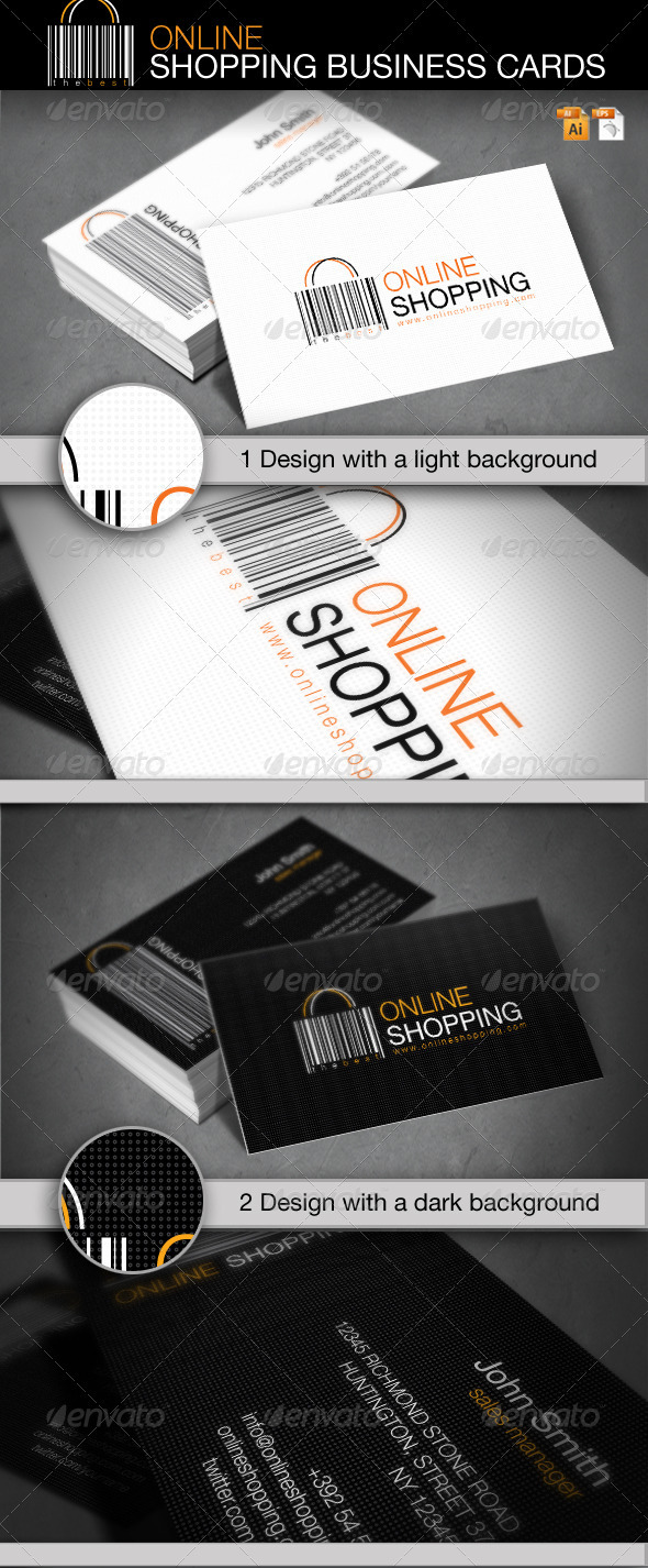 Online Shopping Business Card - Industry Specific Business Cards
