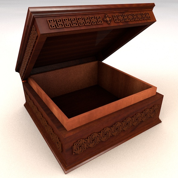 Square Jewelry Box - 3DOcean Item for Sale