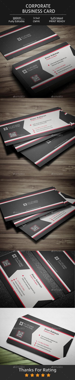 Corporate Business Card V13 - Corporate Business Cards