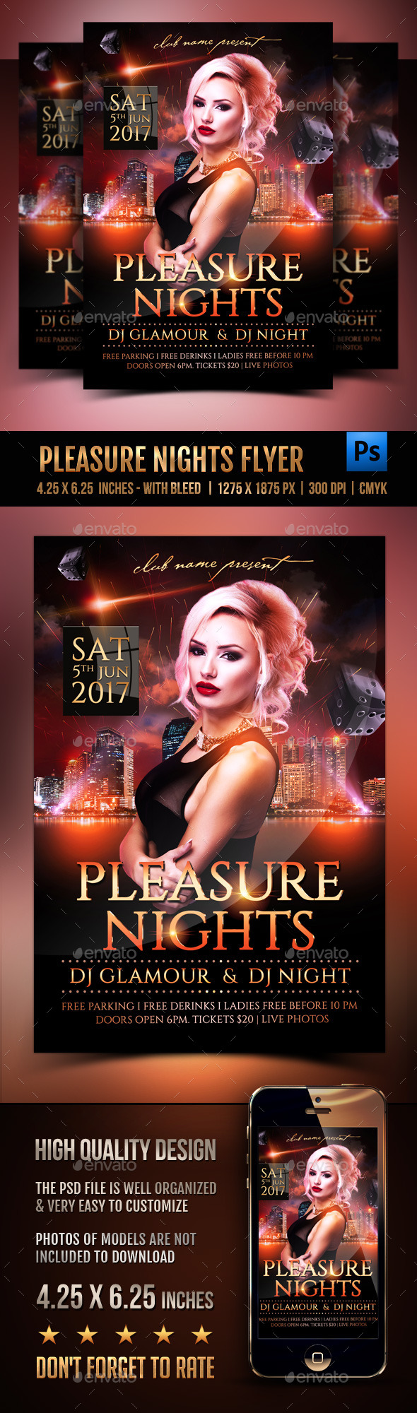 Pleasure Nights Flyer - Clubs & Parties Events