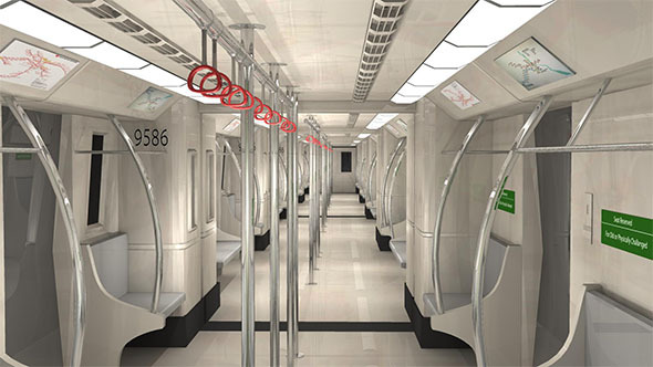 Metro Train Interior - 3DOcean Item for Sale