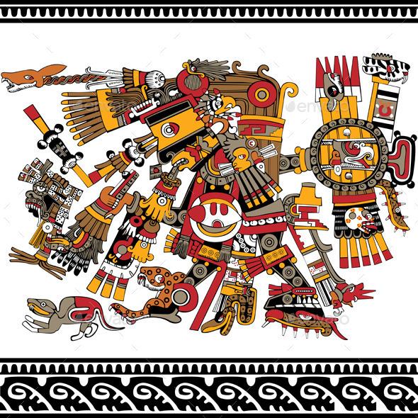 Ancient Aztec God - Travel Conceptual