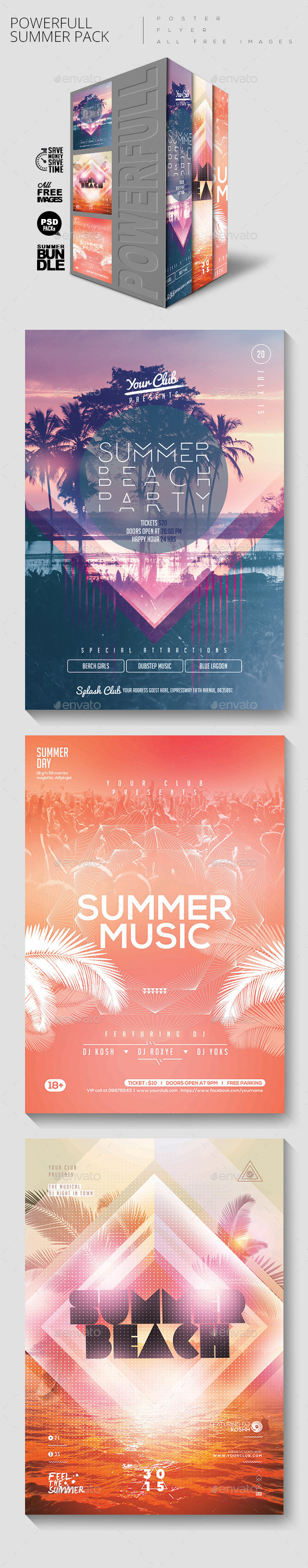 Summer Party Bundle - Clubs & Parties Events