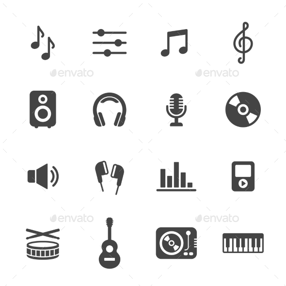 Music Icons - Media Icons