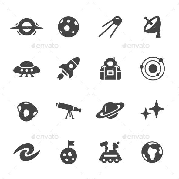 Space And Astronomy Icons - Icons