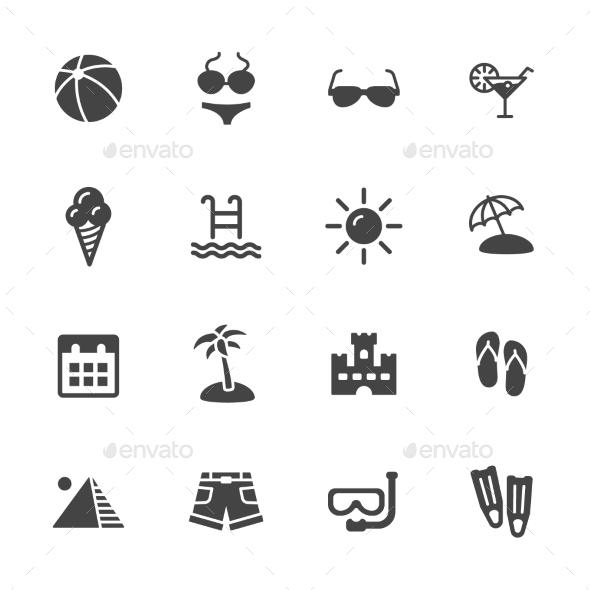 Summer Icons - Seasonal Icons