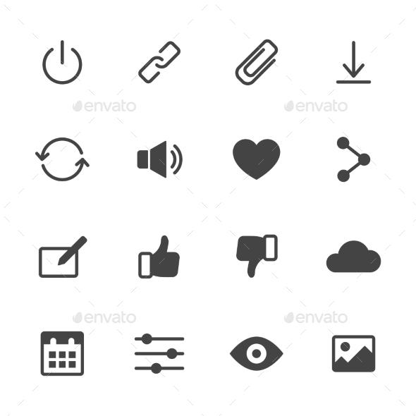 Basic Interface Icons - Web Icons