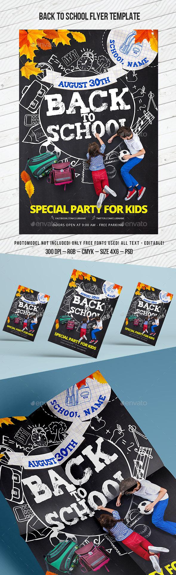 School Flyer - Clubs & Parties Events