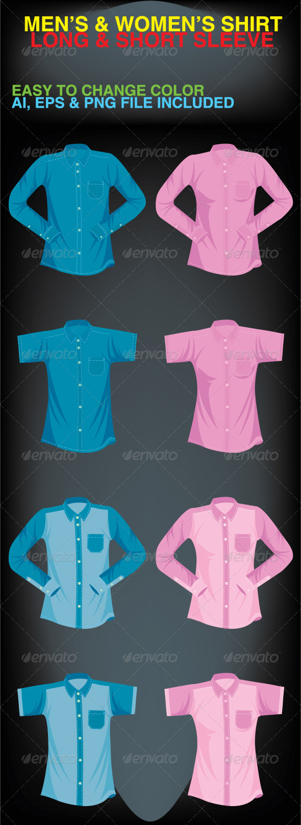 Men's & Women's Shirt - Retail Commercial / Shopping
