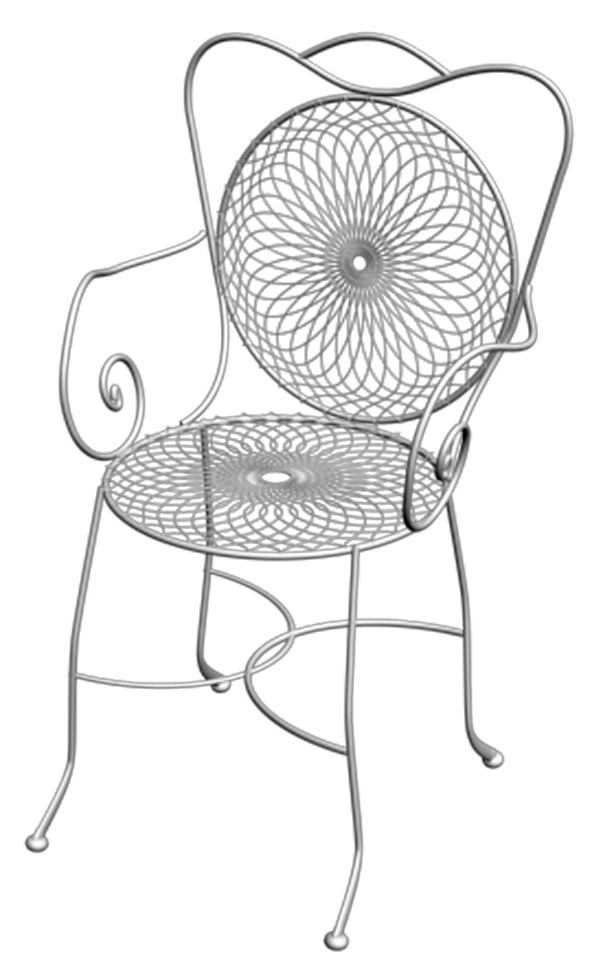 Wrought Iron Chair 01 - 3DOcean Item for Sale