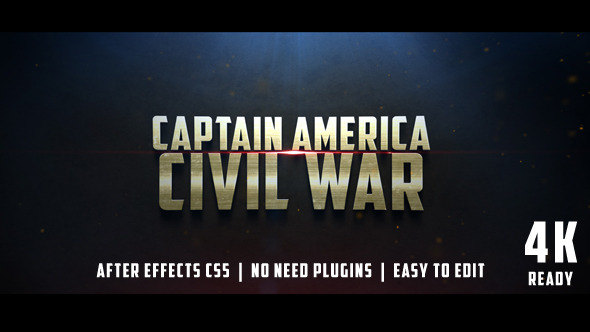 Videohive Civil War Cinematic Trailer 12430722 - Free download