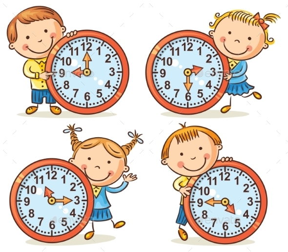 Little Kids Telling Time Set - People Characters