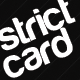 Strict Black Business Card  - GraphicRiver Item for Sale