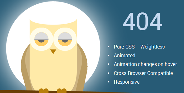 Cute pure css animated animals 404 pages by anuragitanejo themeforest dog previewg owl previewg voltagebd Images