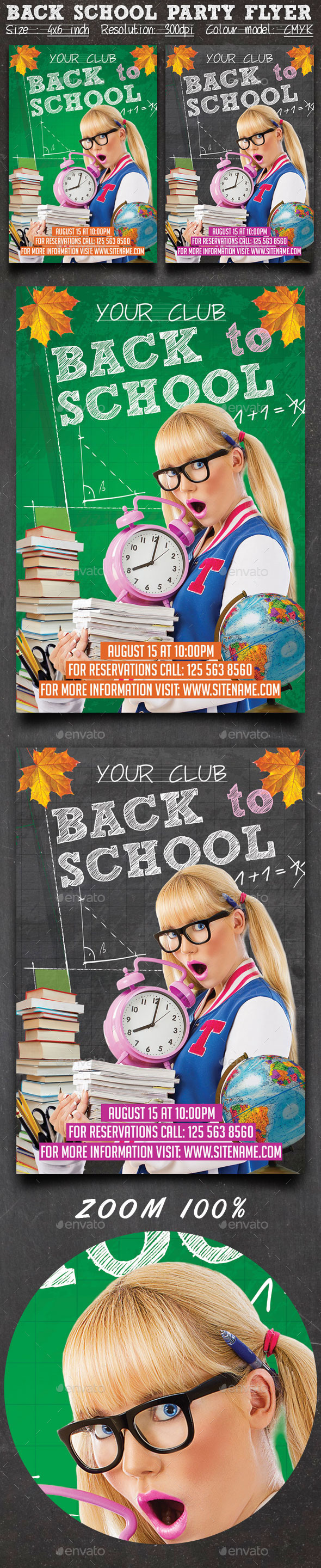 Back School Party Flyer - Clubs & Parties Events