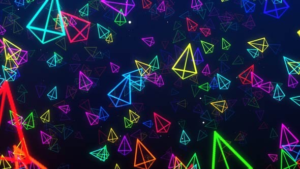 Isometric Triangle Colorful VJ Background