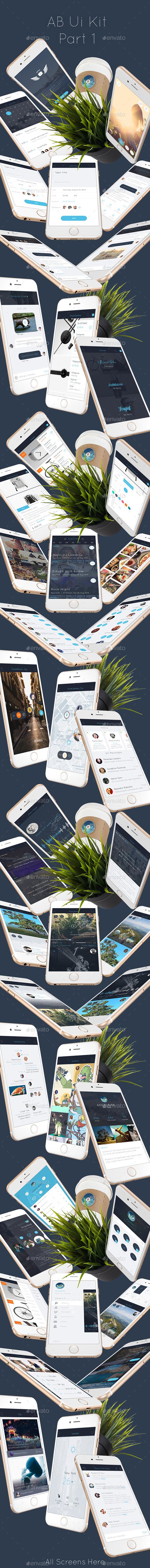 AB1 Mobile UI Kit - User Interfaces Web Elements