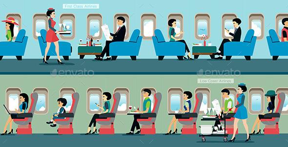 Air Hostess - Travel Conceptual