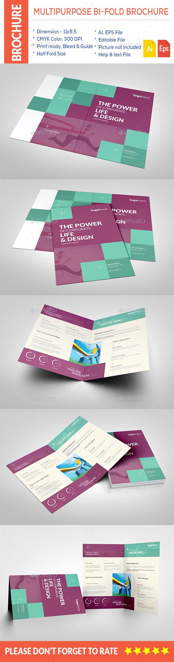 Multipurpose Bi-Fold Brochure - Corporate Brochures
