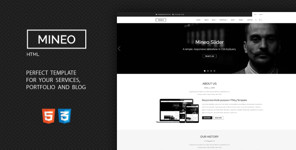 Mineo – MultiPurpose HTML Template
