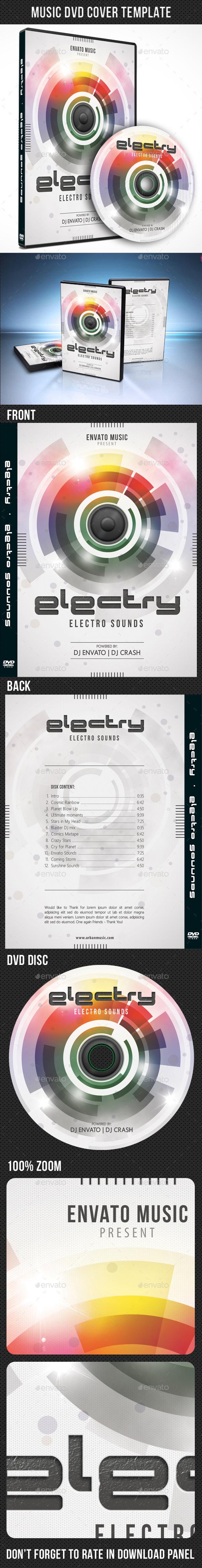 Music DVD Cover Template V10 - CD & DVD Artwork Print Templates