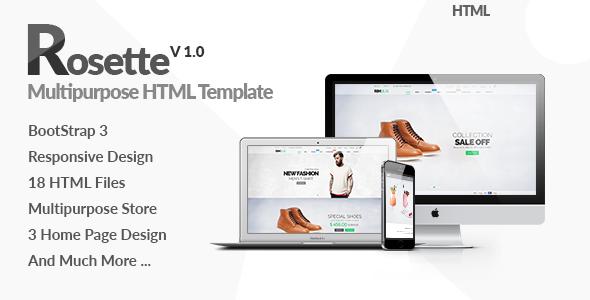 Rosette - Responsive Multipurpose HTML5 Template