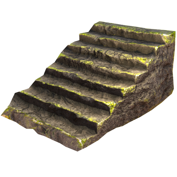 Rocky Staircase | Low Poly Game Asset - 3DOcean Item for Sale