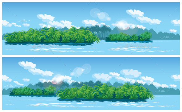 Estuary a Large Tropical River - Nature Conceptual