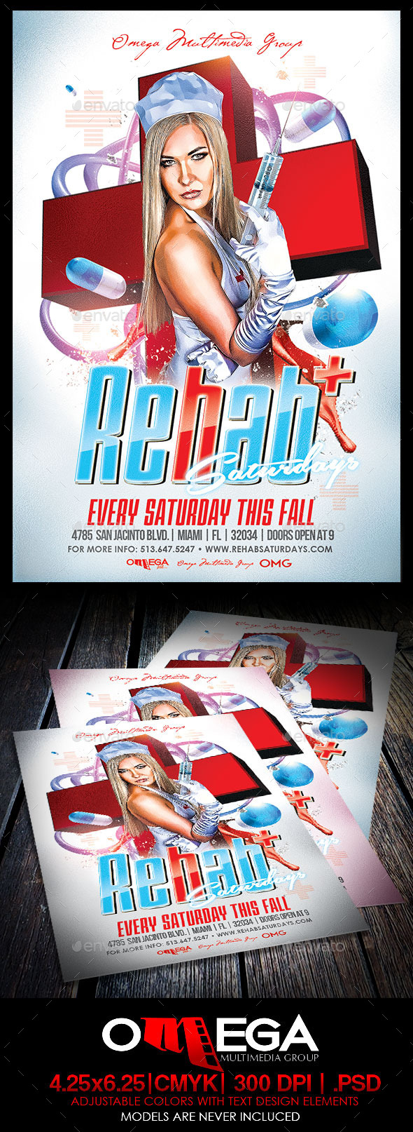Rehab Saturdays - Events Flyers