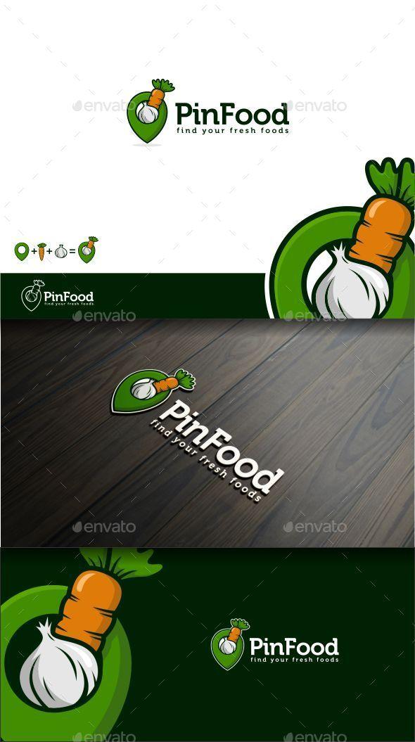 Pin Food - Food Logo Templates