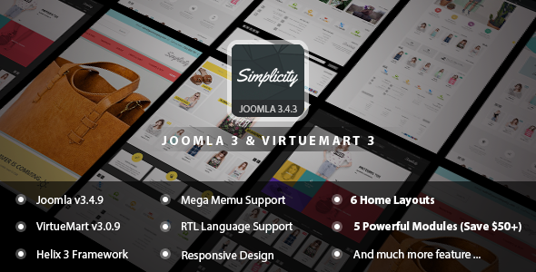 Simplicity – Responsive eCommerce Joomla Template