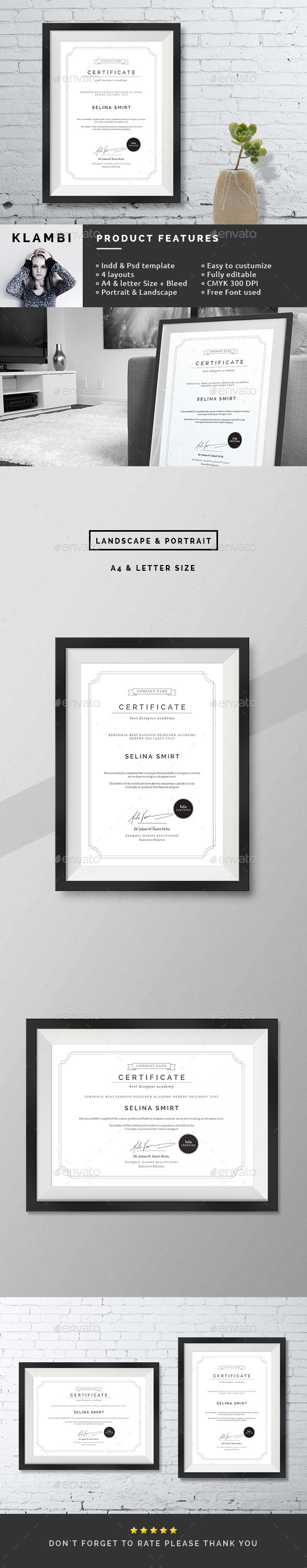Clean Certificates - Certificates Stationery