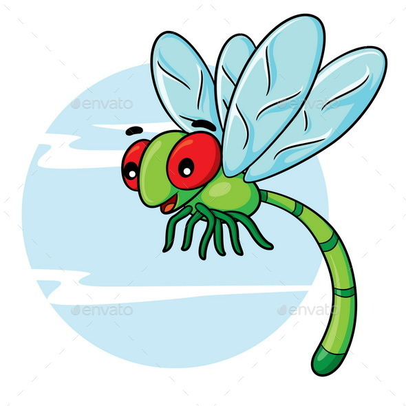 Dragonfly Cartoon - Animals Characters