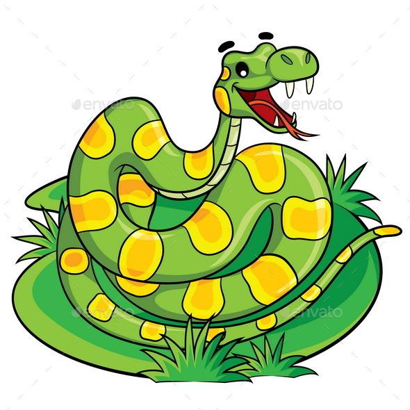 Snake Cartoon - Animals Characters