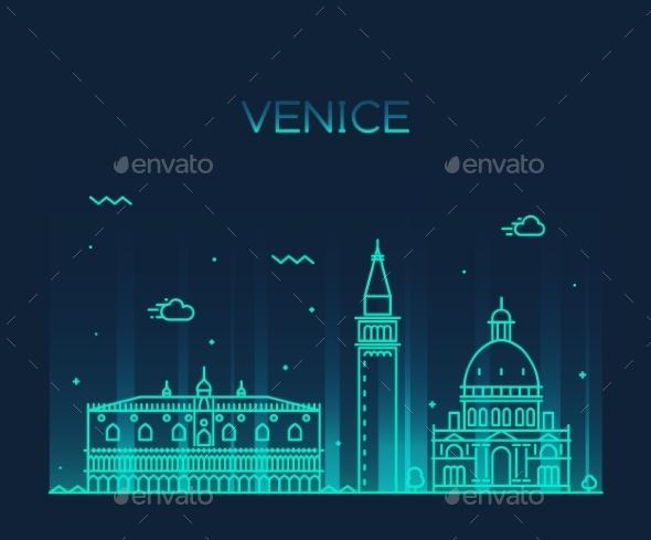Venice Skyline - Buildings Objects
