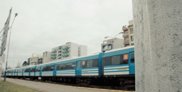 Train and Platform in Argentina
