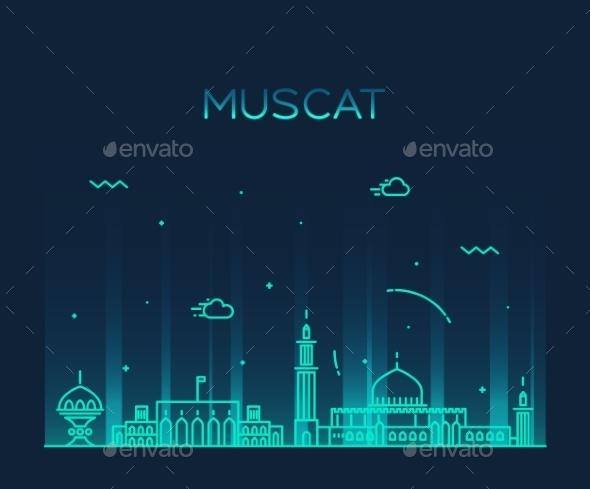 Muscat Skyline - Buildings Objects