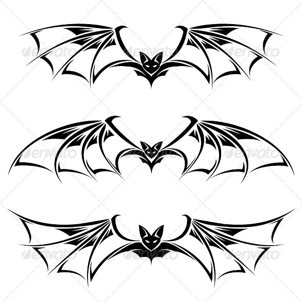 Bats - Tattoos Vectors