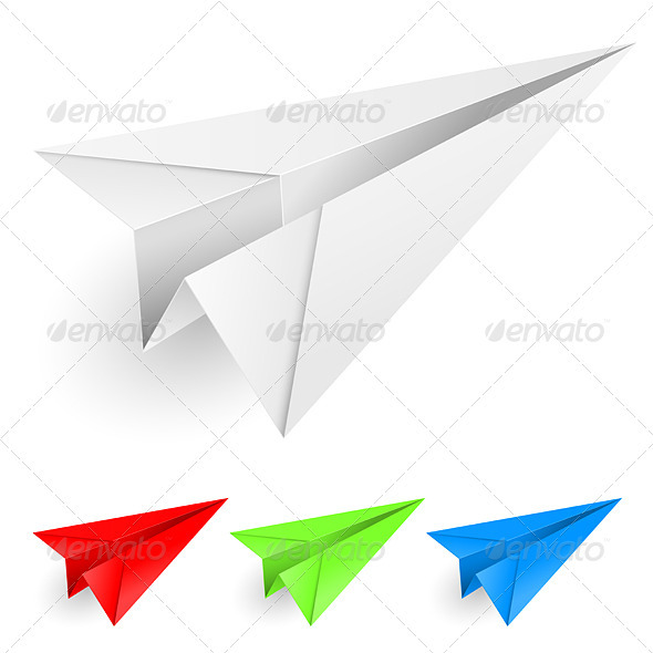 Colorful Paper Airplanes - Man-made Objects Objects