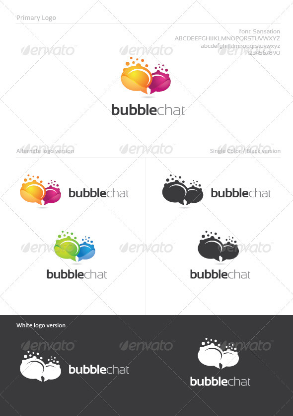 Bubble Chat - Abstract Logo Templates