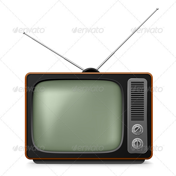 Realistic Vintage TV. - Man-made Objects Objects