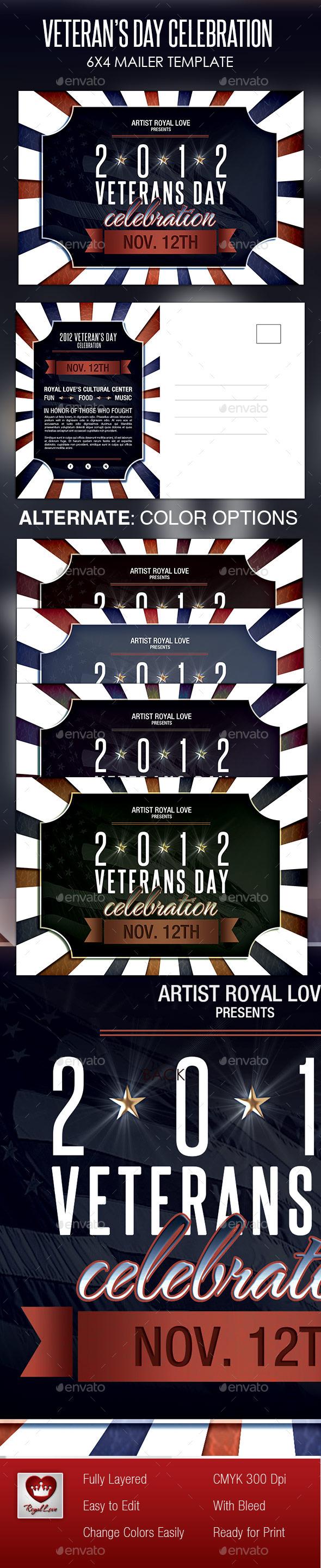 Veterans Day Celebration Mailer