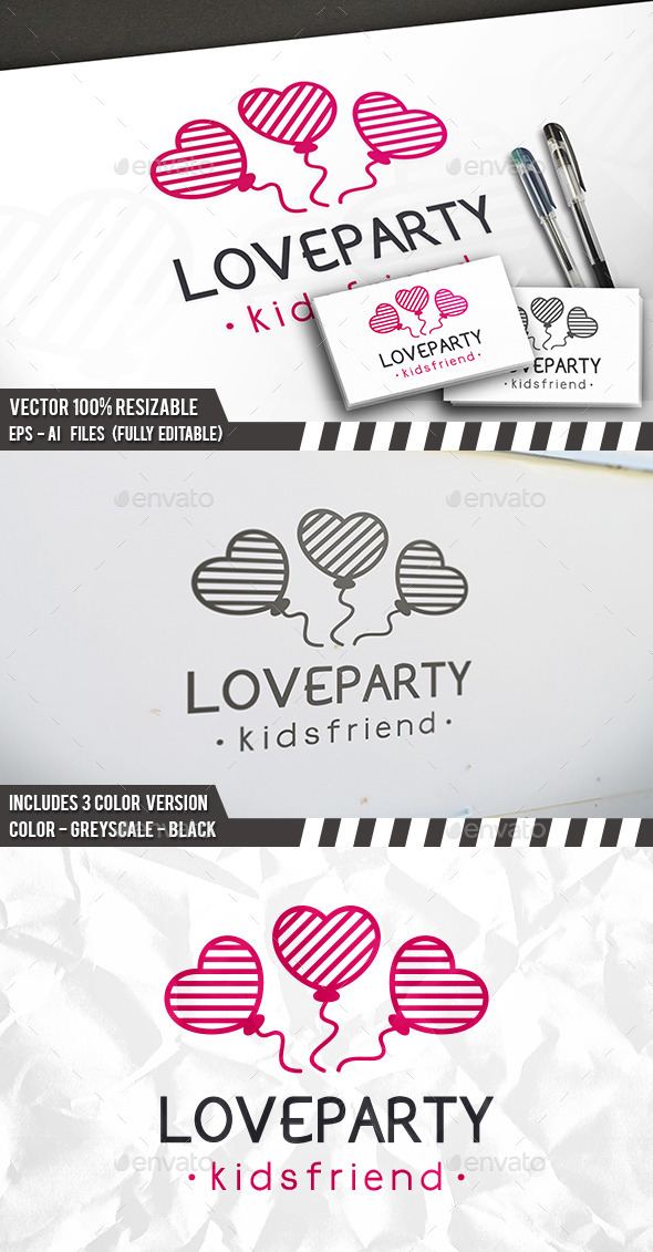 Love Party Logo - Symbols Logo Templates