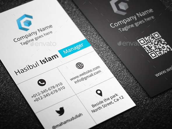 Creative vertical business card by hasscreation graphicriver creative vertical business card business cards print templates back ag back bg reheart Choice Image