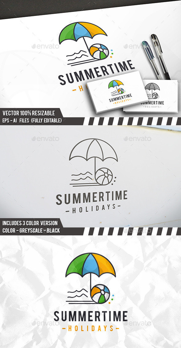 Summer Time Logo - Objects Logo Templates